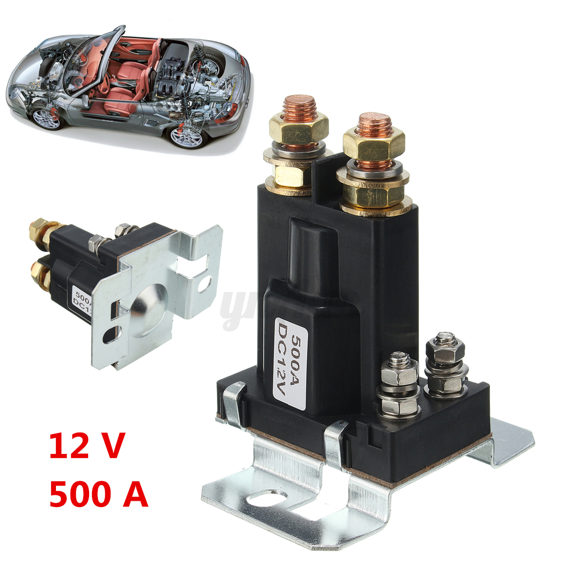 12v 4 pin 500a amp dual battery isolator car relay starter onoff image is loading 12v 4 pin 500a amp dual battery isolator freerunsca Choice Image