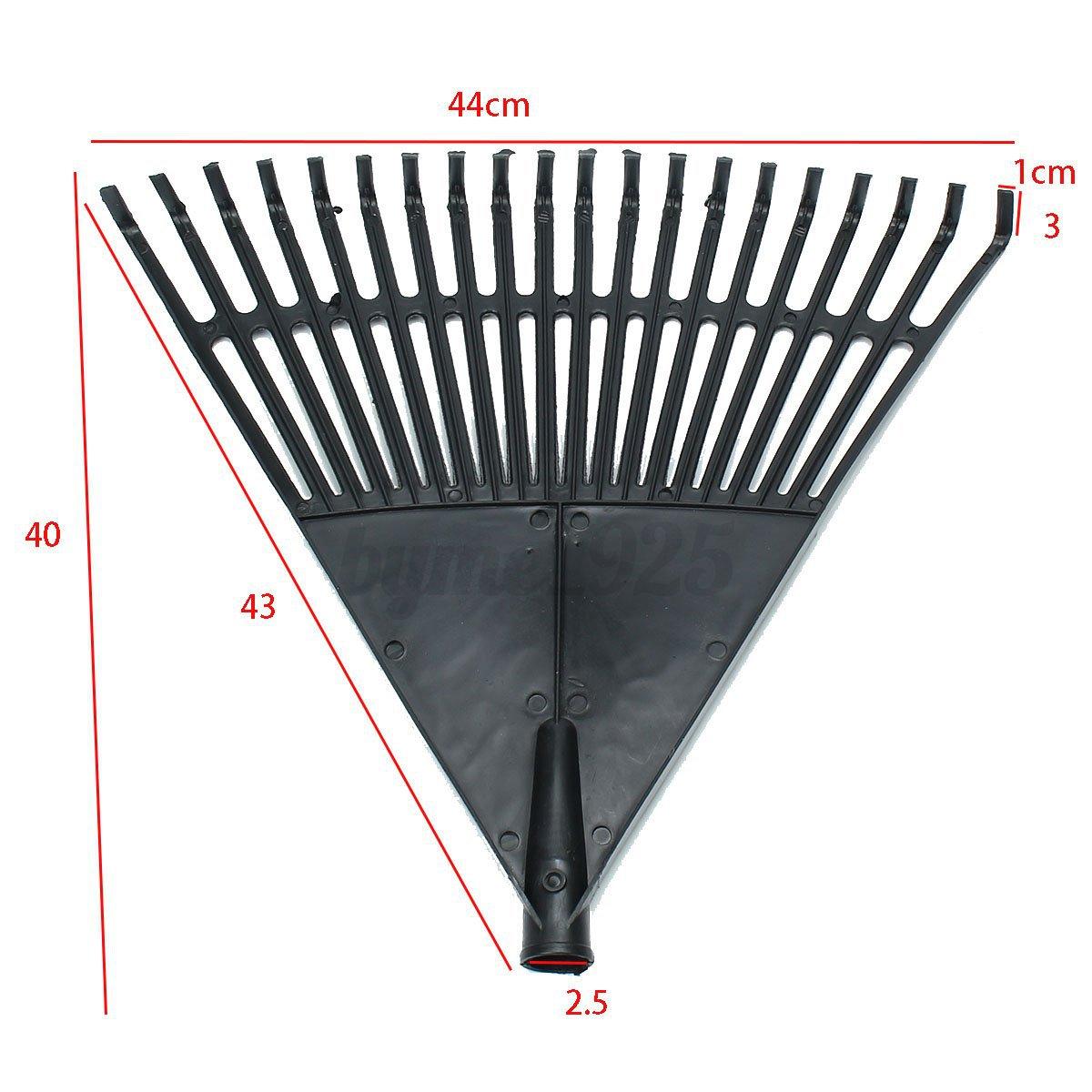3 types 20 22 teeth plastic garden yard farm rake head for Heavy duty garden rake