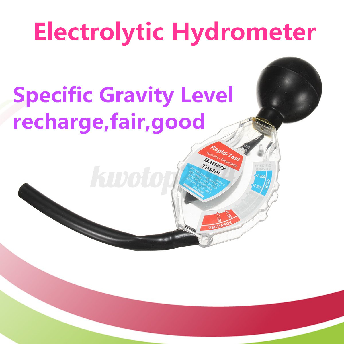Deep Cell Battery Tester : Cm battery hydrometer dial easy read professional car