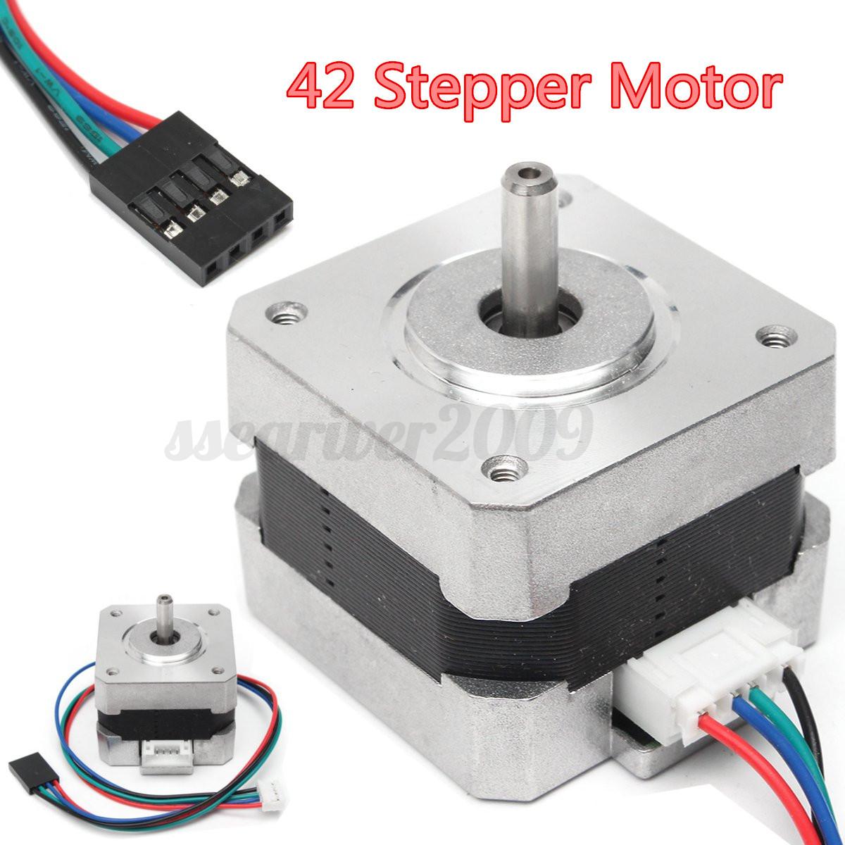 Nema17 shaft 42 stepper motor 500rpm for 5mm reprap cnc for Low rpm stepper motor
