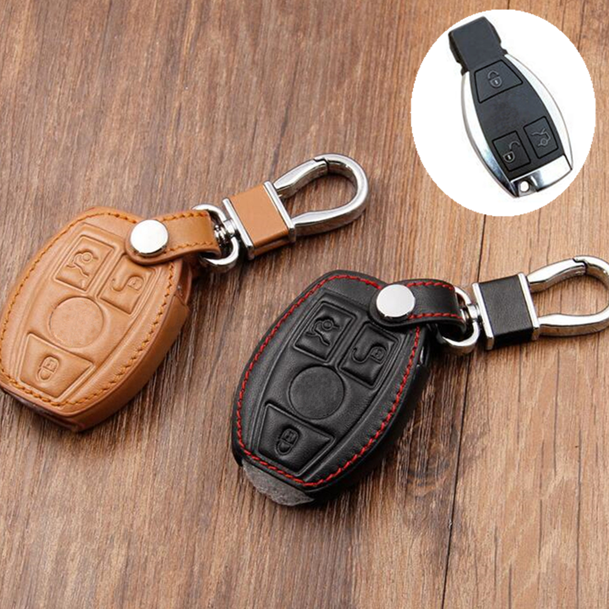 Pu leather key cover case holder for mercedes benz remote for Mercedes benz key cover