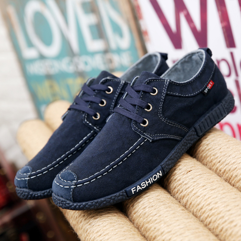 Men-Casual-boat-Canvas-Shoes-Flat-Loafer-Lace-Up-Fashion-Low-Top-Board-Sneakers