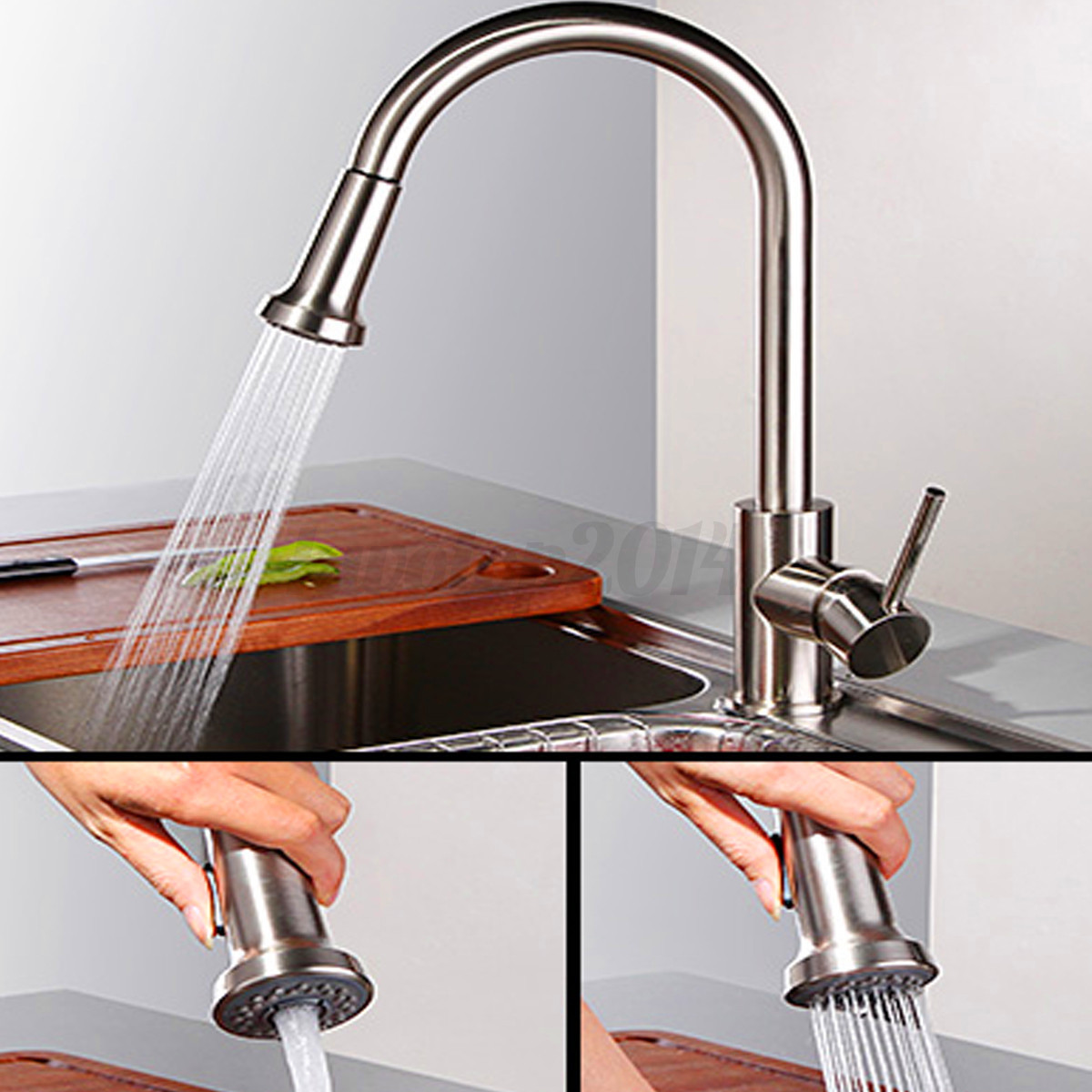 Abs plastic kitchen sink faucet pull down spray shower head steel replacement us ebay - Shower head for kitchen sink ...
