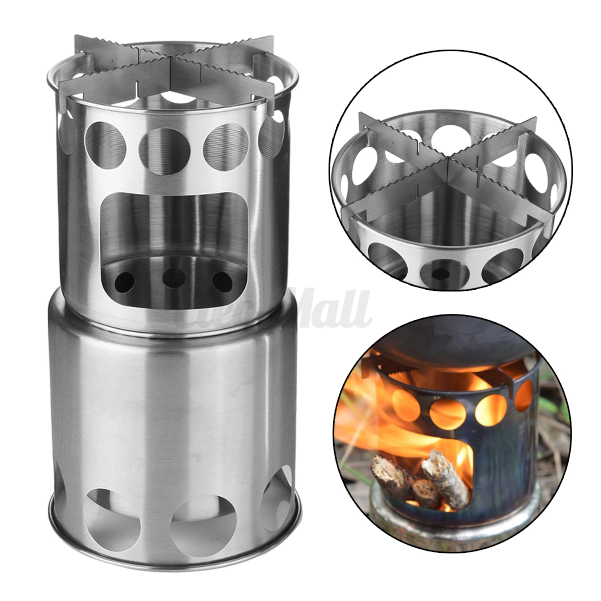 Stainless Steel Outdoor Picnic Camping Backpacking Cooking Wood ...