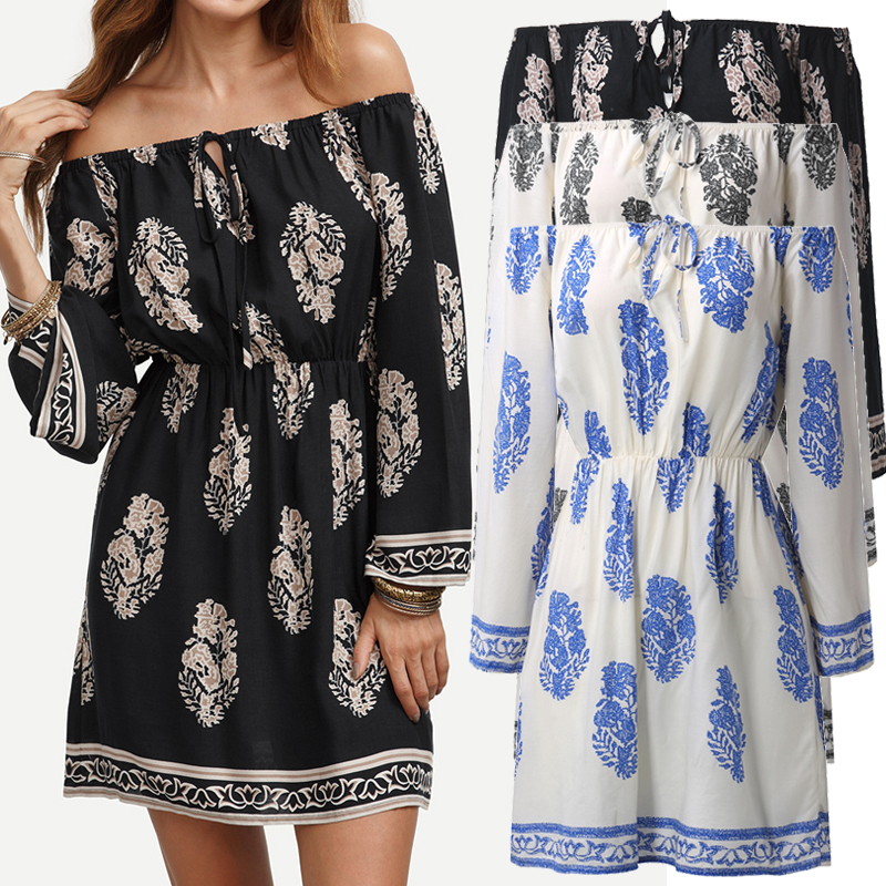 76d27ea48456 Image is loading Women-Summer-Off-Shoulder-Bardot-Mini-Short-Sundress-