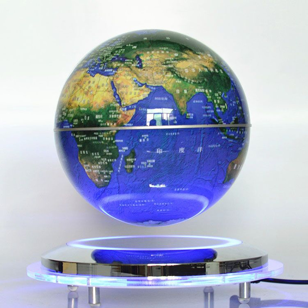 8 Led Magnetic Levitation World Map Light Decor Floating Globe Floating Decor Ebay