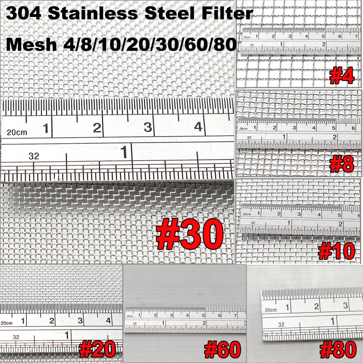 MEGA MESH LISTING -304 Wire Cloth Screen Stainless Steel Filter ...