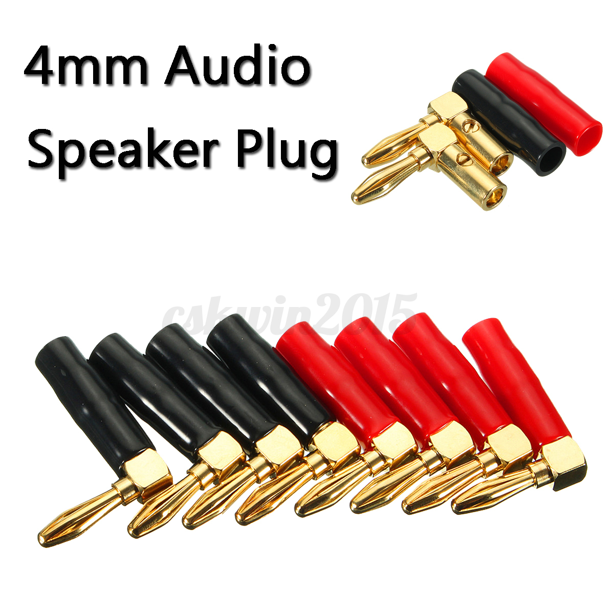 2 type 2mm 4mm elbow gold banana plug audio speaker wire pin cable connector. Black Bedroom Furniture Sets. Home Design Ideas