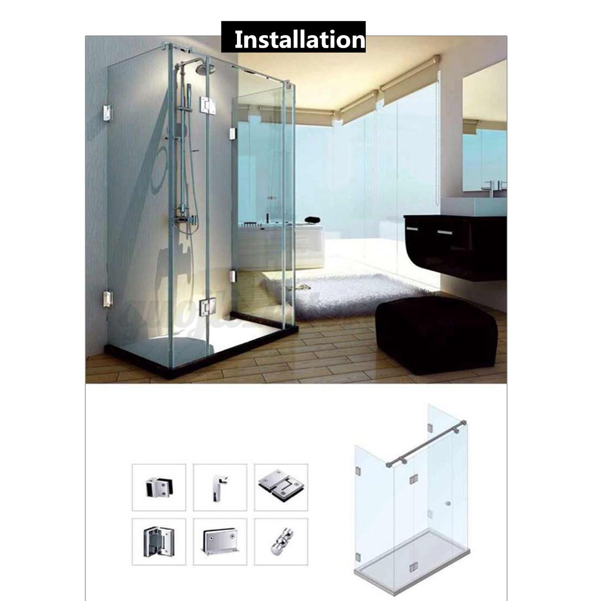 Aluminium shower glass door handle knob groove chrome for File f bathroom