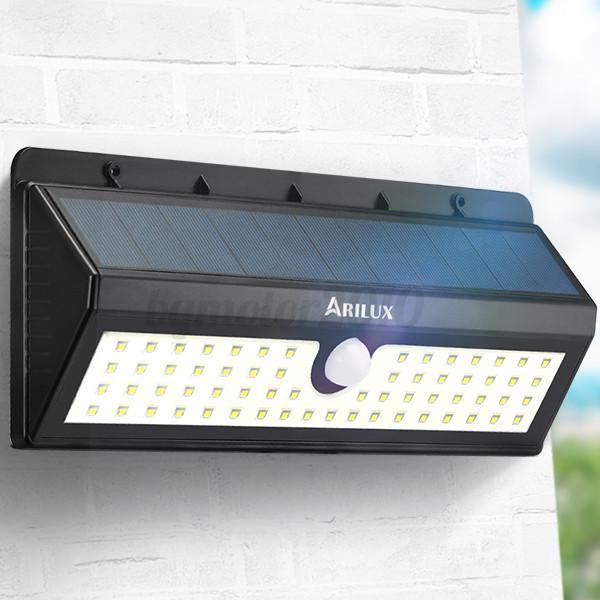 ARILUX-AL-SL05-62-LED-Lampe-Solaire-Etanche-Detecteur-Mouvement-Exterieur-IP65 miniature 10