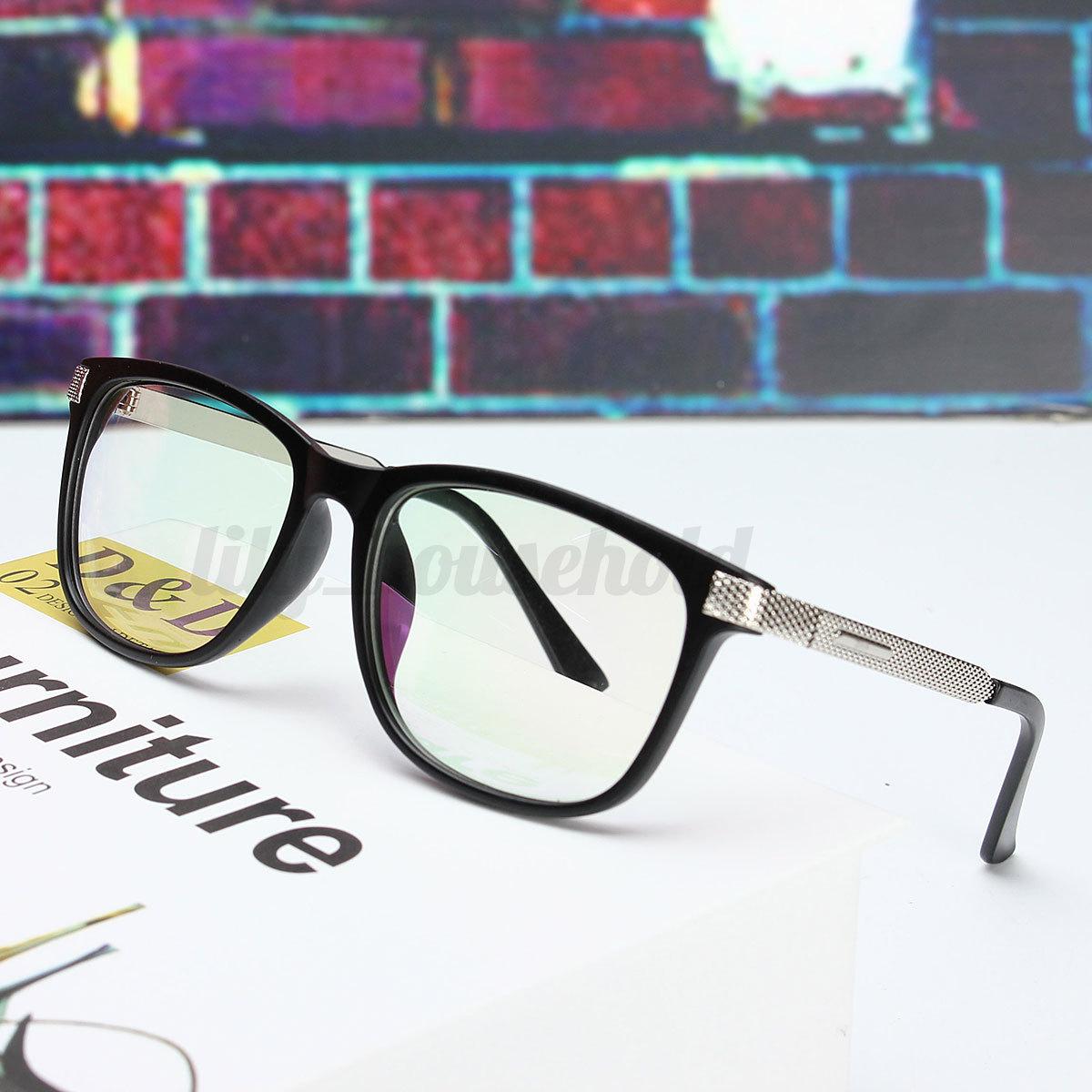 Damen Herren Vintage Brille Brillen Nerd Klarglas Brillenfassungen ...