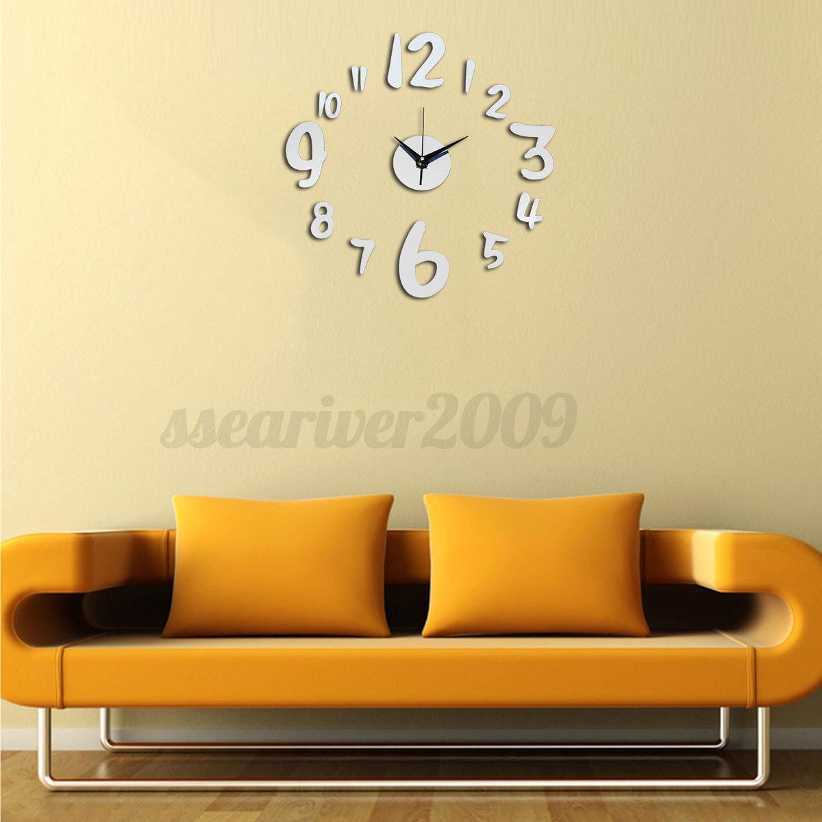 DIY-3D-Horloge-Murale-Mirror-Moderne-Autocollant-Sticker-Art-Decor-Maison-Salon
