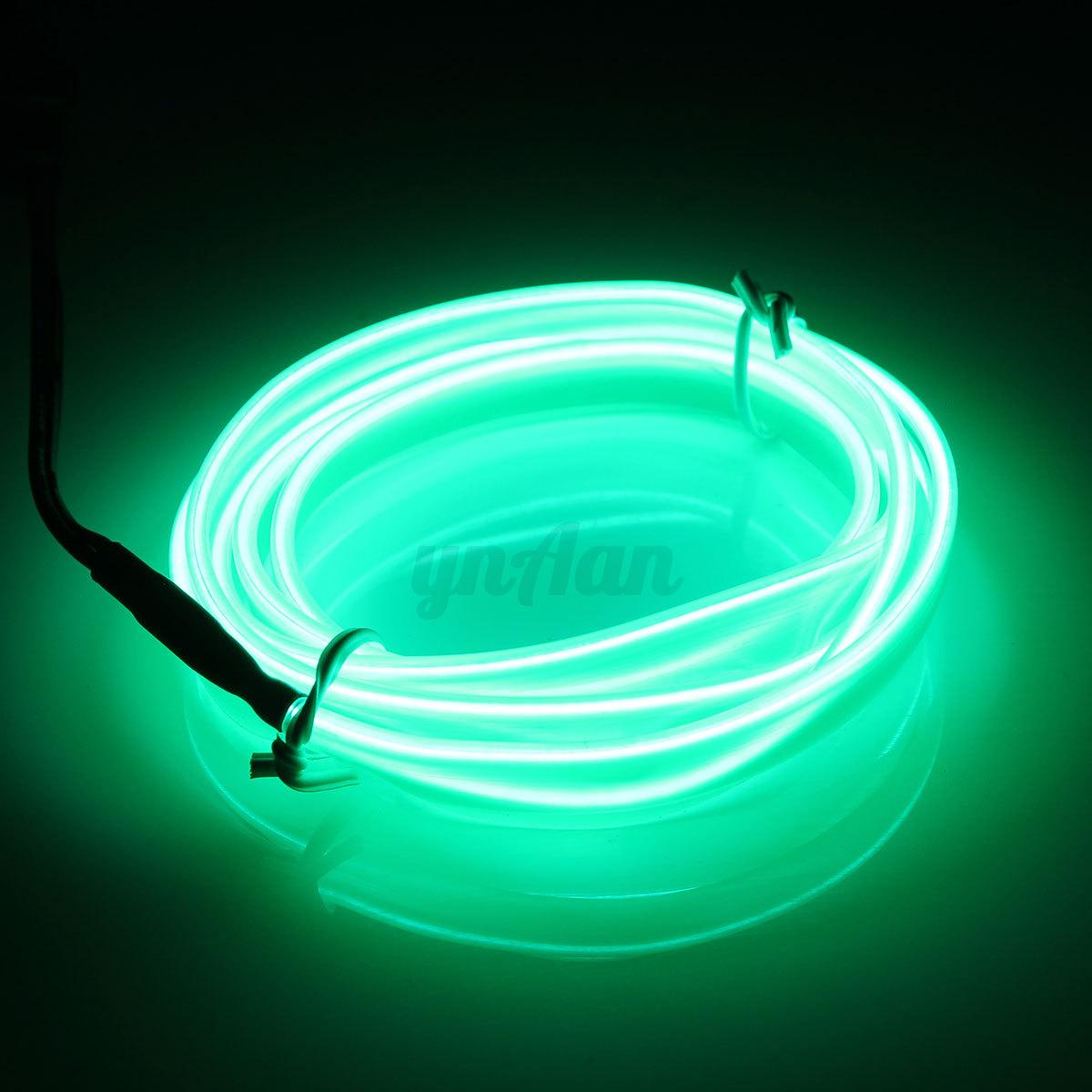 1 3 5m car interior atmosphere glow el wire neonled string strip light rope tube ebay. Black Bedroom Furniture Sets. Home Design Ideas