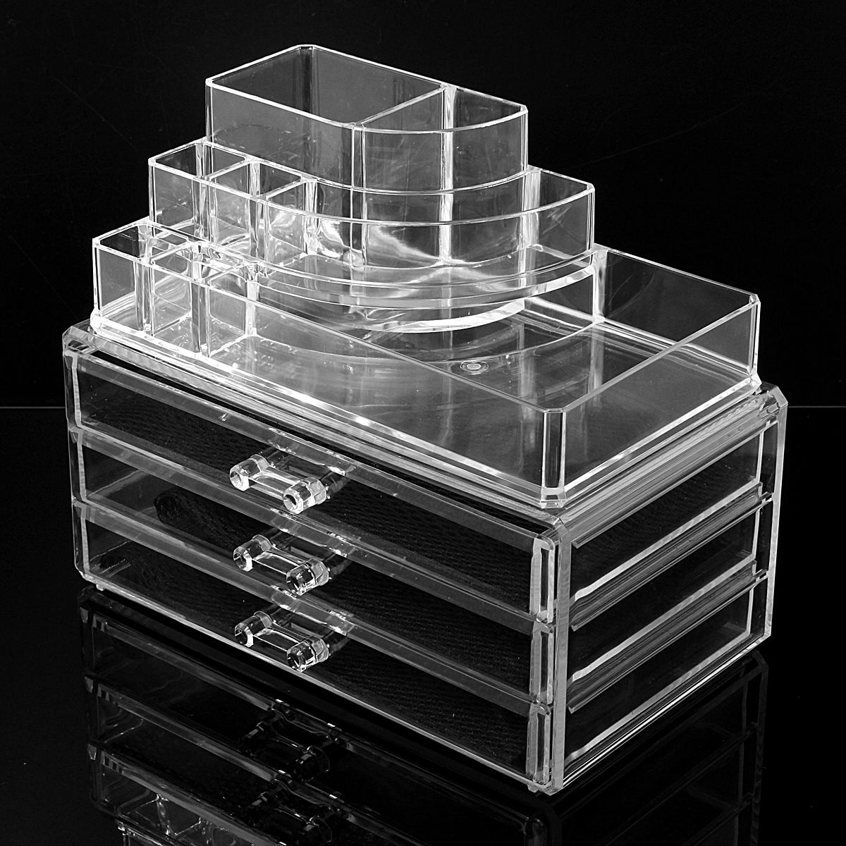 Clear Acrylic Makeup Cosmetic Organizer Drawer Jewelry
