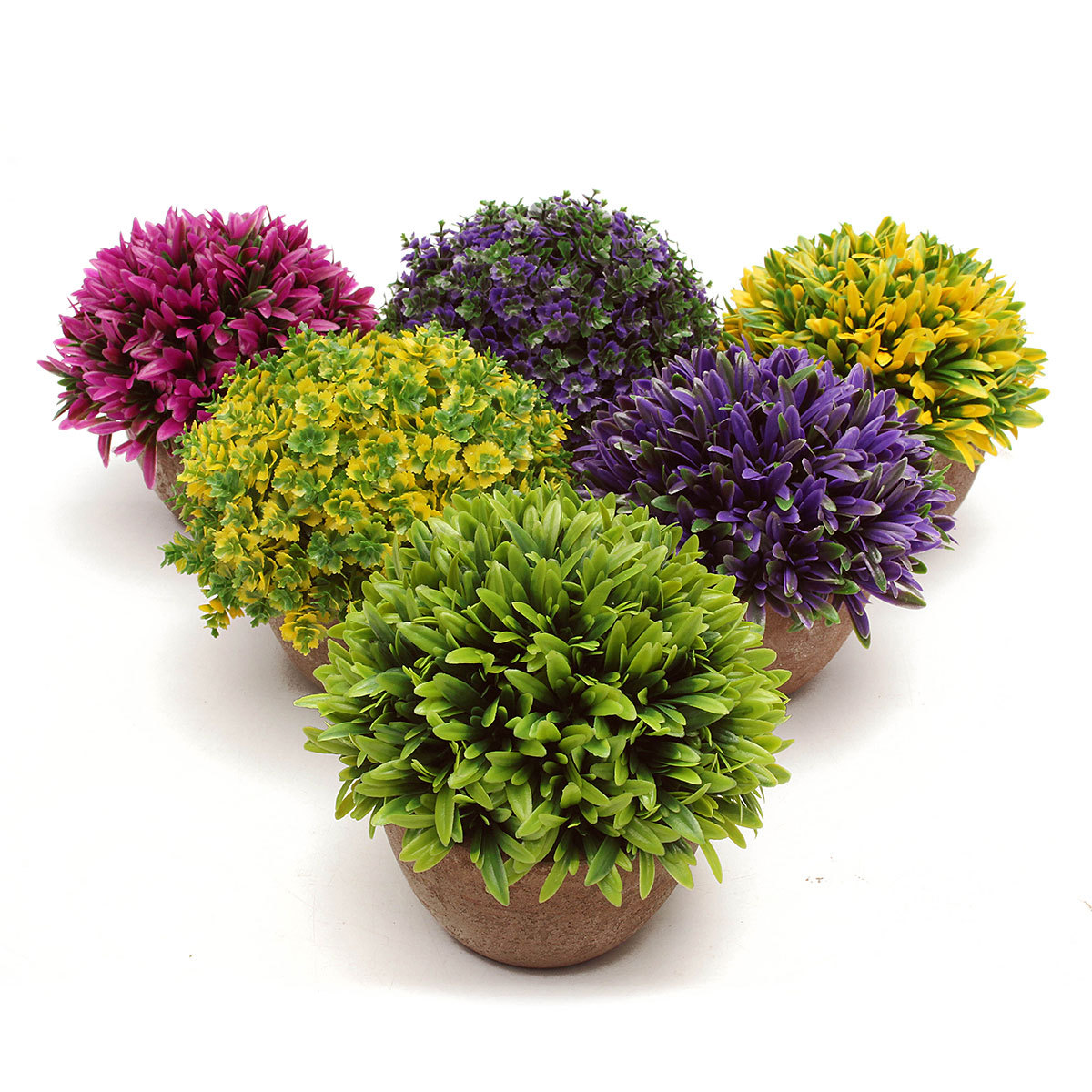 Artificial Topiary Tree Ball Plants Pot Garden Office Home ...