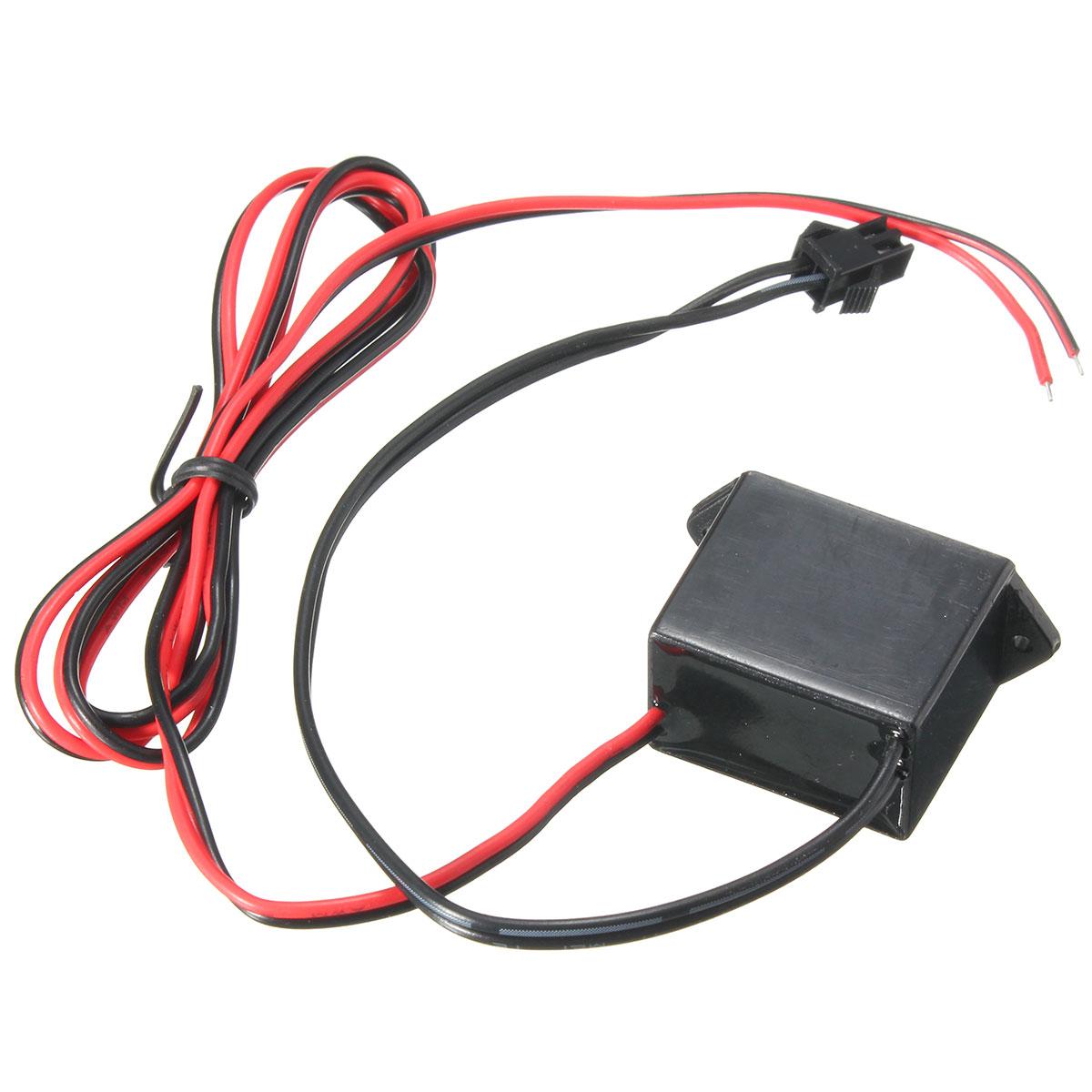 3V/12V Sound/Ordinary Battery Holder USB/Car Driver For EL Wire Neon ...