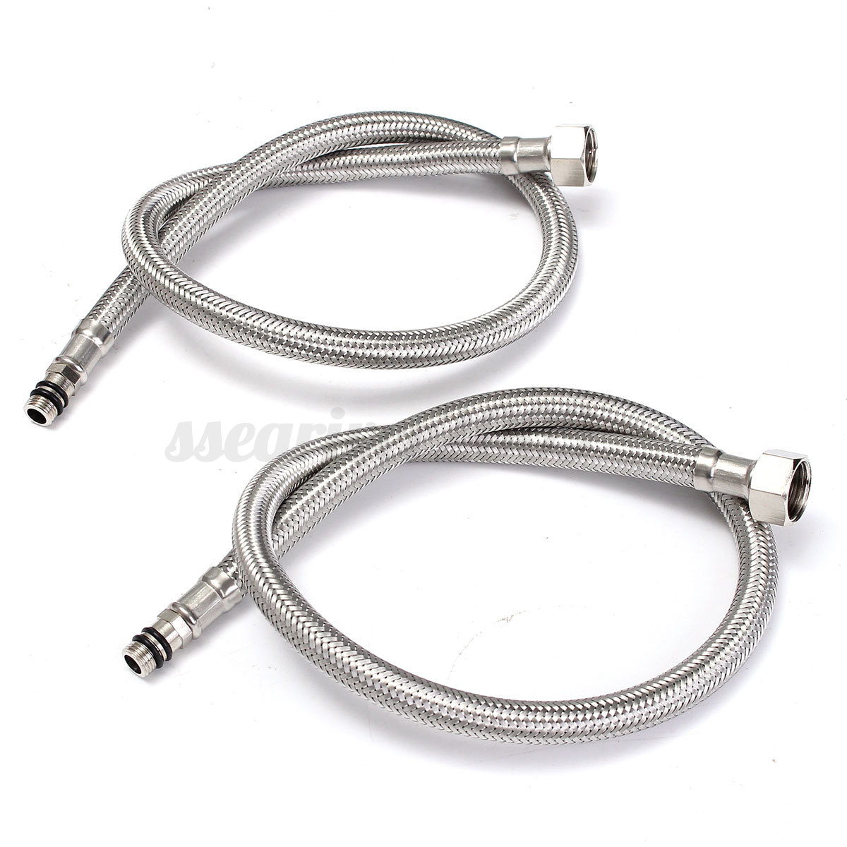 2Pcs 24''Length Line Pipe Stainless Steel Flexible Faucet
