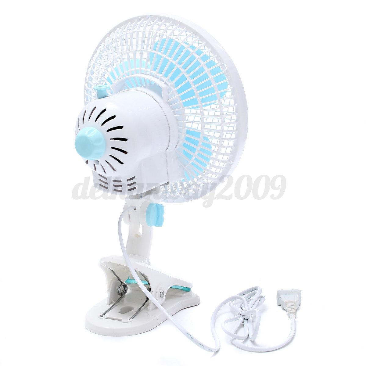 3 Prong Plug Desk Fan : In quot inch clip on fan portable desk table speed