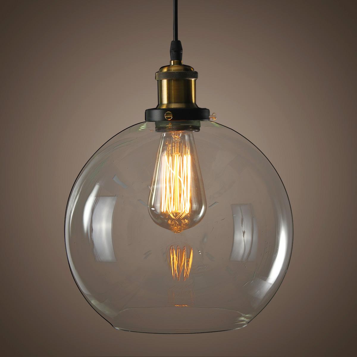 Modern Vintage Hanging Glass Ceiling Pendant Light Chandelier