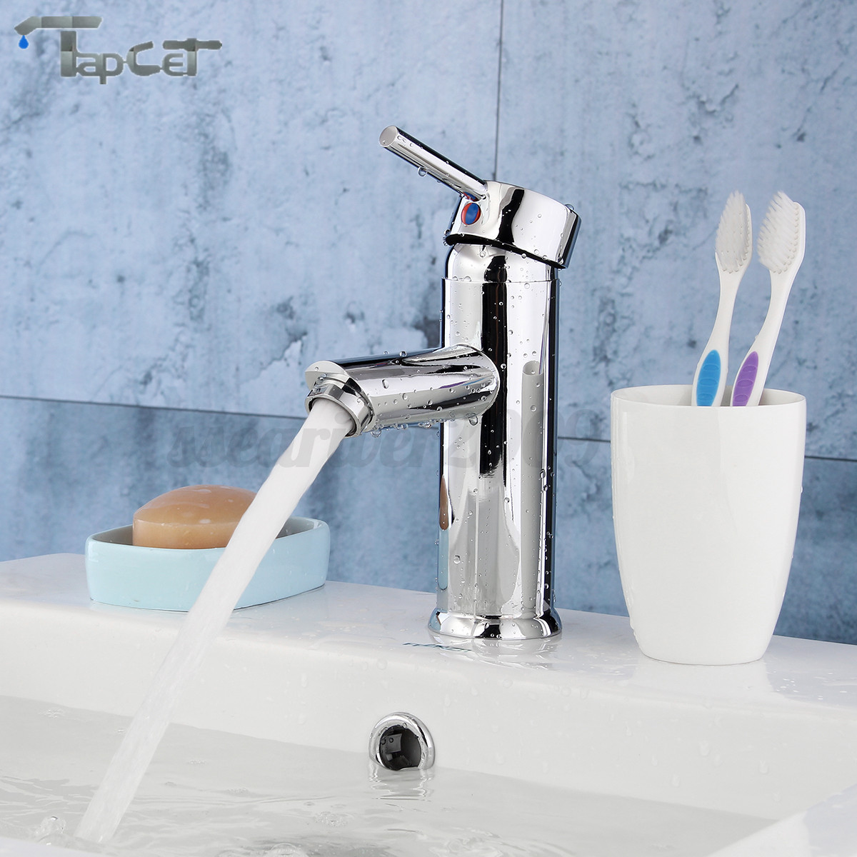 Modern Chrome Brass Waterfall Basin Faucet Single Handle Sink Mixer ...