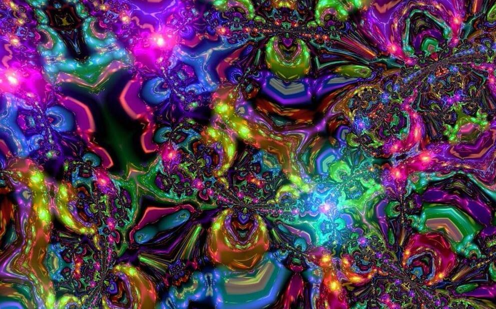 . Psychedelic Trippy Art Silk Cloth Poster Photo Fabric Home Decor 100cmx60cm     4 50