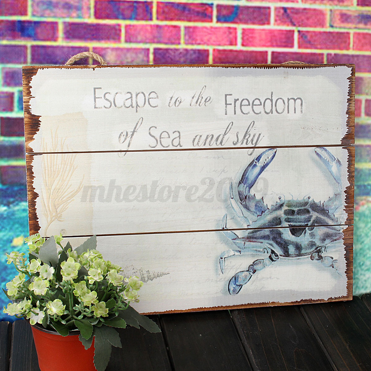 Large Lobster Wall Decor : Wood rustic plaque bar cafe wall hanging art nautical