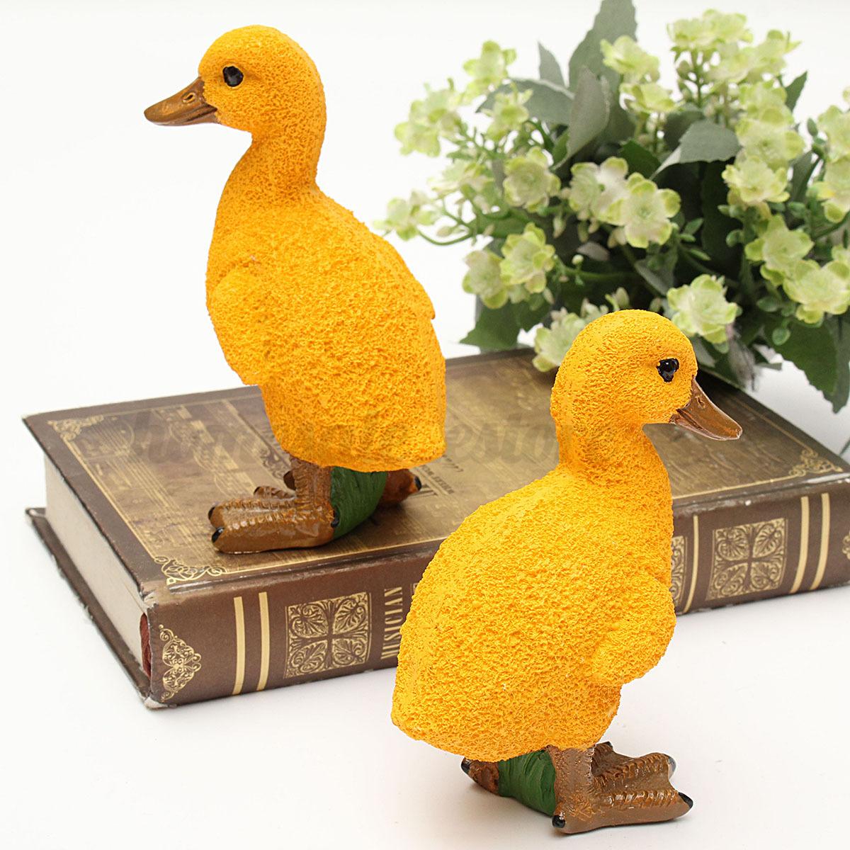2pcs resin duck decorative figures sculpture ornament home for Duck decorations home