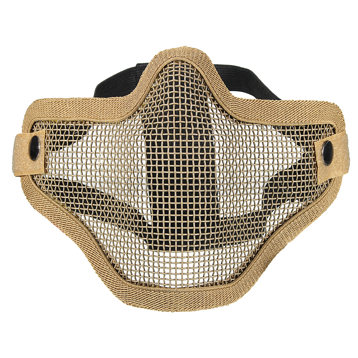 Tactical Ghost Mesh Airsoft Mask CS Game Cosplay Paintball Half ...