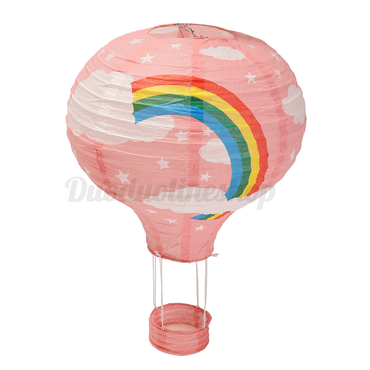 12 39 39 hot air balloon paper lantern lampshade ceiling light home room party decor ebay. Black Bedroom Furniture Sets. Home Design Ideas