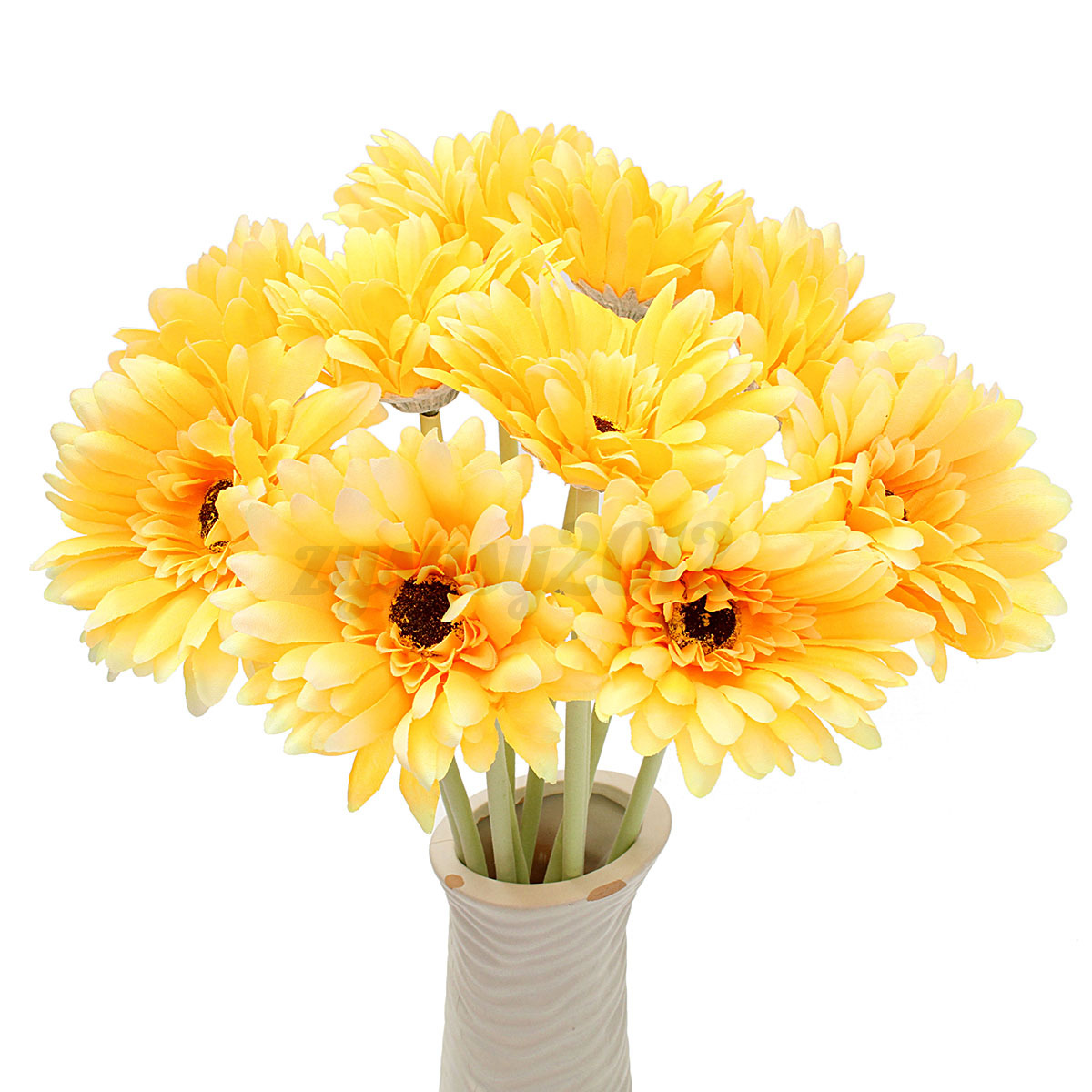 10pcs large artificial silk gerbera daisy flower leaf home for Artificial flower for wedding decoration