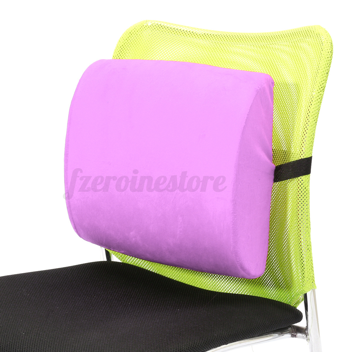 Memory Foam Lumbar Cushion Back Support Chair Waist Pillow
