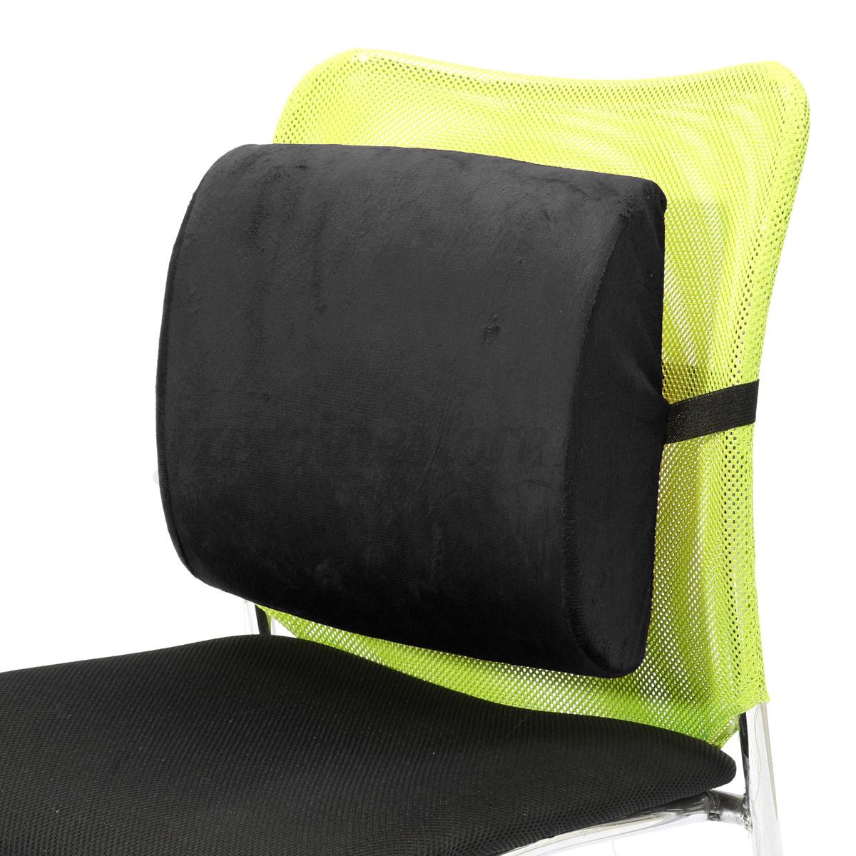 Memory Foam Lumbar Cushion Back Support Chair Waist Pillow
