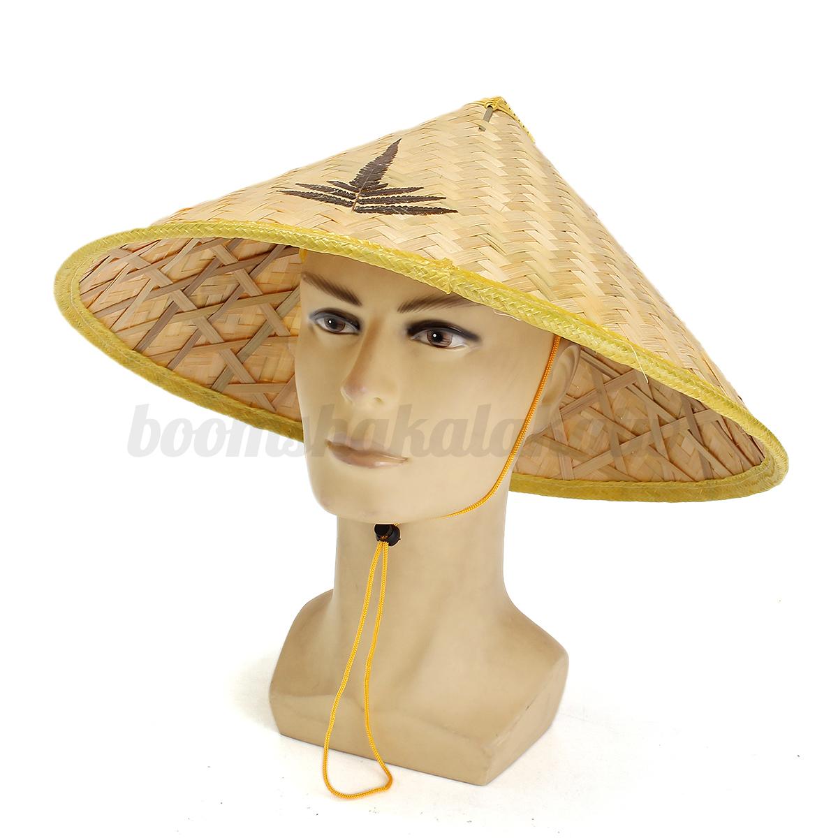 Coolie Hat: Vietnamese Oriental Asian Bamboo Woven Hat Cap Sun Coolie