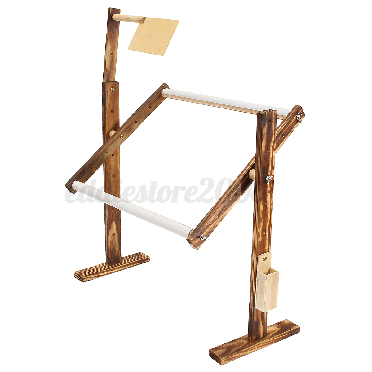 Wood diy sewing tool embroidery frame floor stand holder