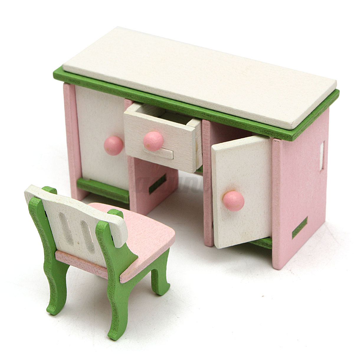 Wooden Doll House Miniature Bedroom Furniture Set Families Role Play Toys Gift Auctions Buy