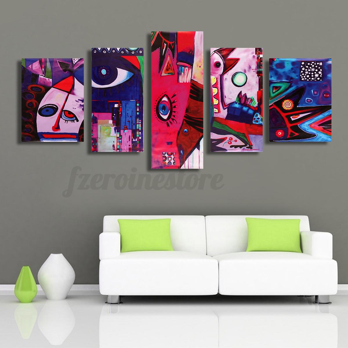 Quadro 5 pz stampa su tela arredamento arredo arte casa for Ebay arredamento