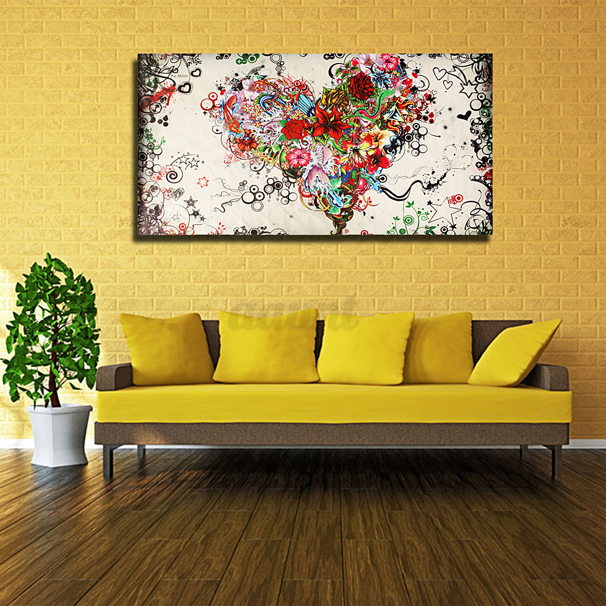 Large Modern Abstract hand-painted Art Oil Painting Wall Decor ...