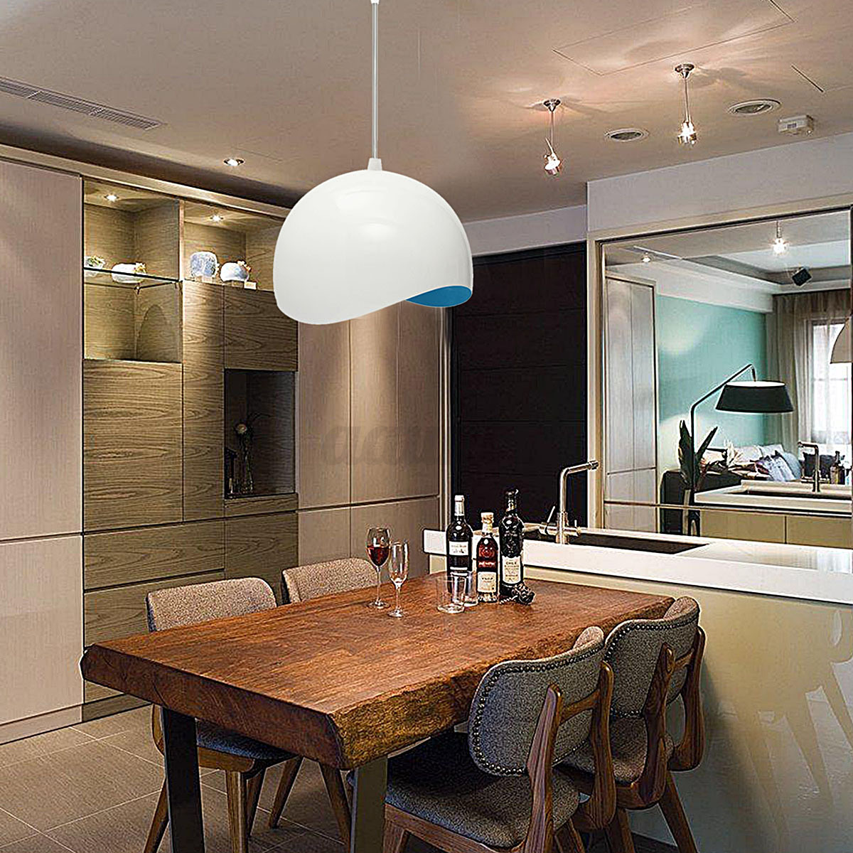Country Kitchen Lighting: Modern Country Style Retro Eggshell Pendant Ceiling Light
