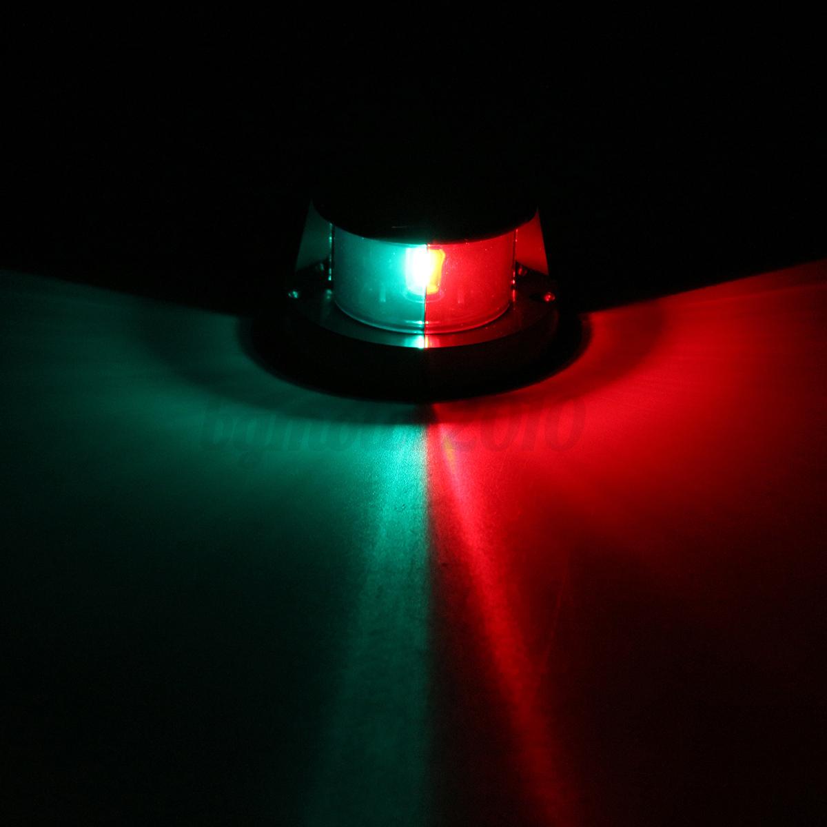 12v 5w marine boat led navigation bow light bi color red. Black Bedroom Furniture Sets. Home Design Ideas