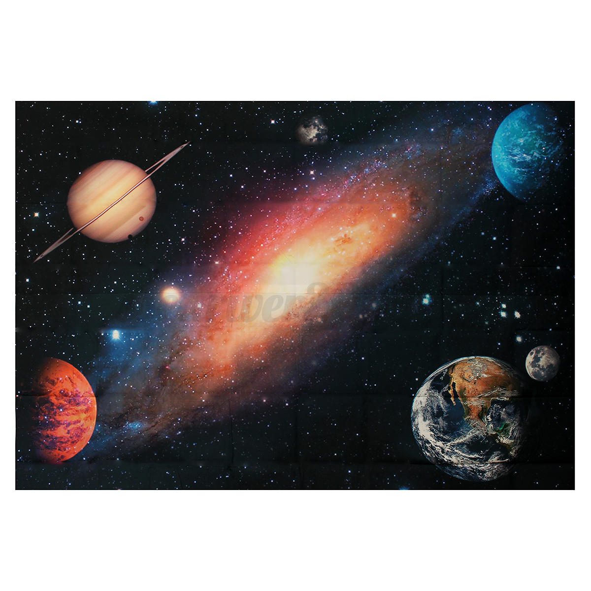 Universe planet space full wall mural print decal for Universe wallpaper for walls