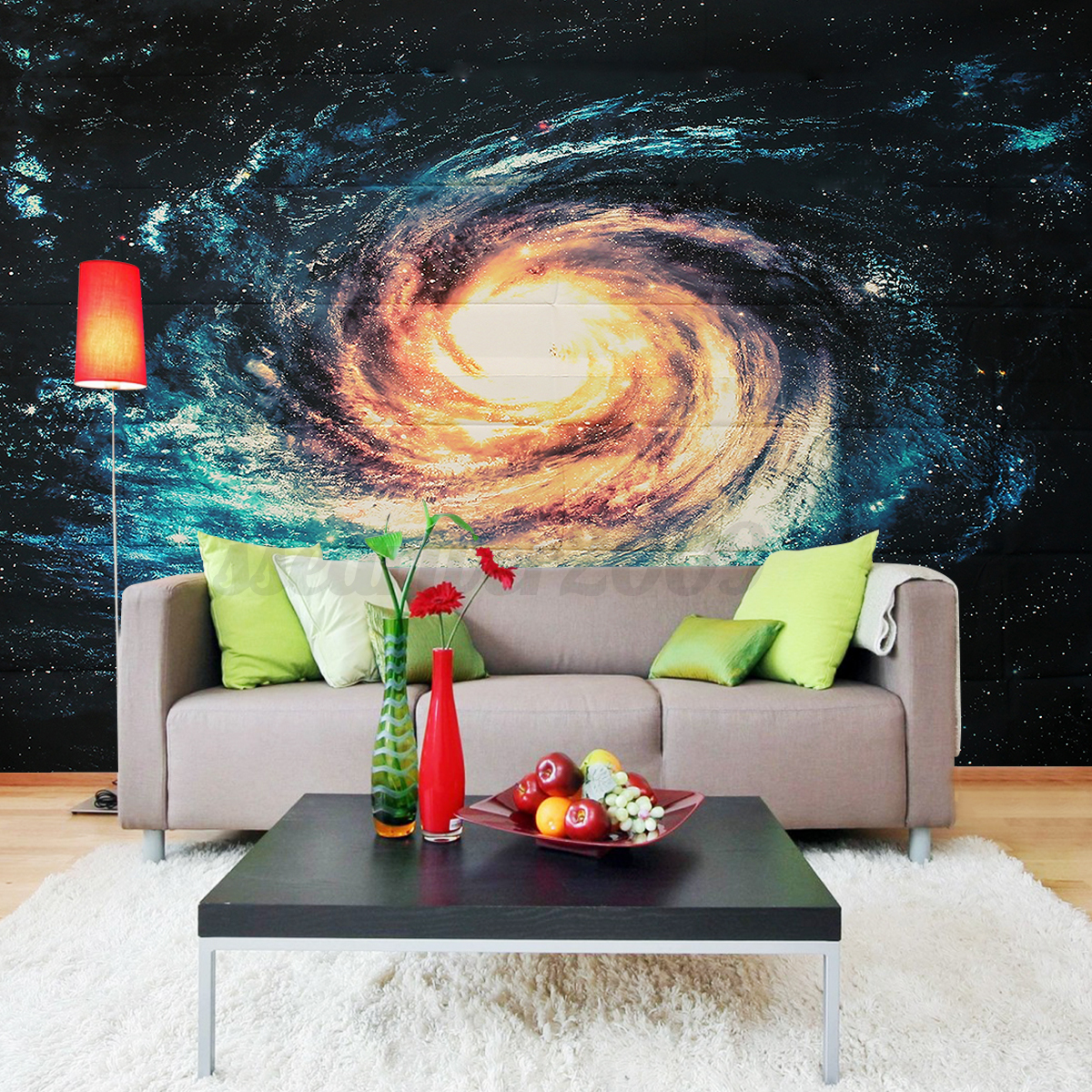 Universe planet space full wall mural print decal for Diy wall photo mural