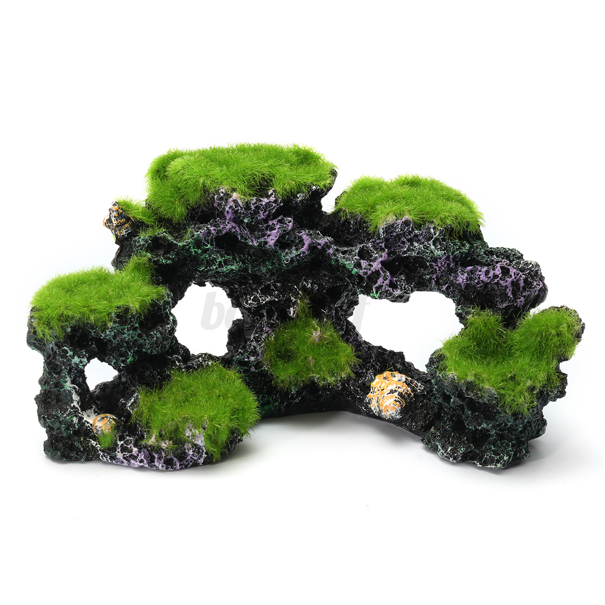 Aquarium mountain view coral reef rock cave stone moss for Aquarium stone decoration
