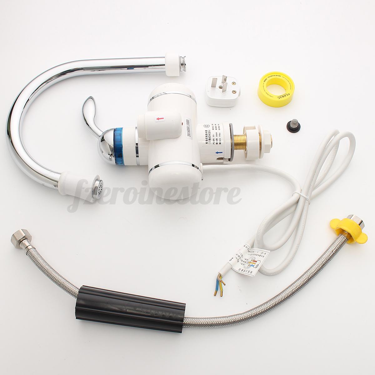elektrische durchlauferhitzer armatur wasserhahn bad k che sp ltisch 3000w 220v ebay. Black Bedroom Furniture Sets. Home Design Ideas