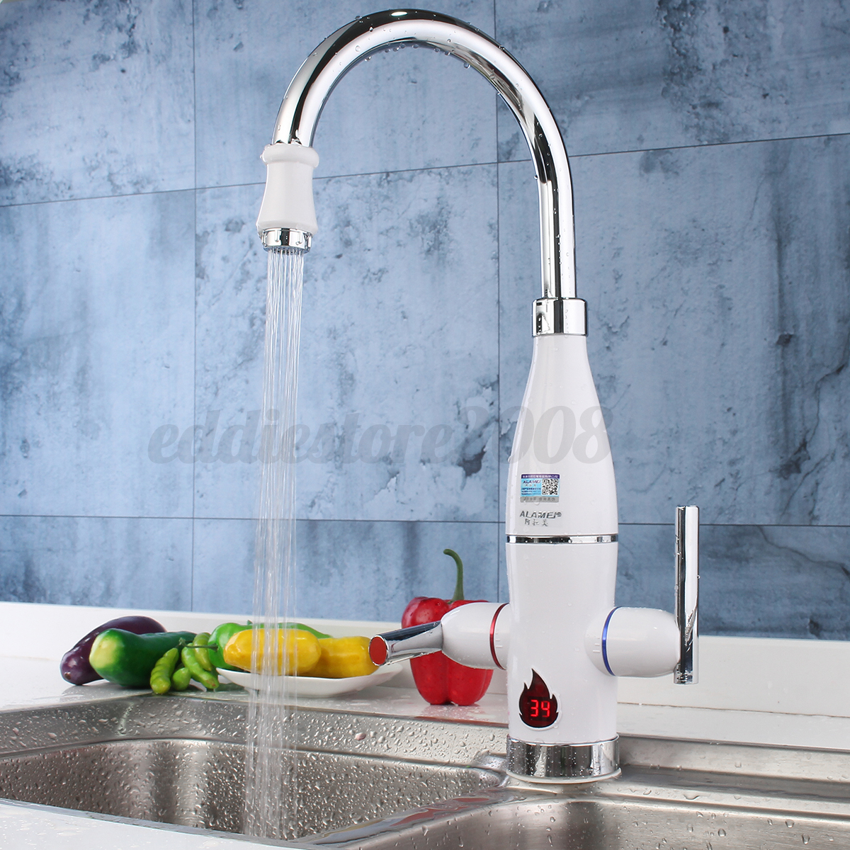Tankless Electric Instant Hot Water Heater Kitchen Faucet Bathroom ...