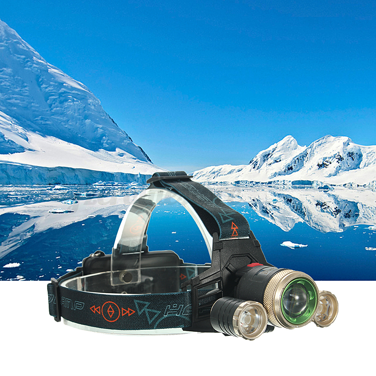 12000LM Zoomable Headlight Torch T6 LED Headlamp Head Lamp+Charger+18650 Battery