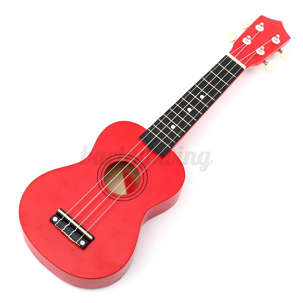 21'' Ukulele Sopran Gitarre Acoustic Guitar 4-String Kinder Geschenk fr Anfänger Rot
