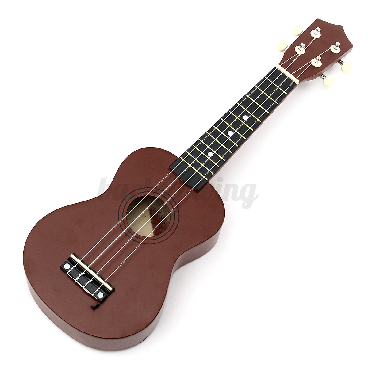 21'' Ukulele Sopran Gitarre Acoustic Guitar 4-String Kinder Geschenk fr Anfänger Kaffee