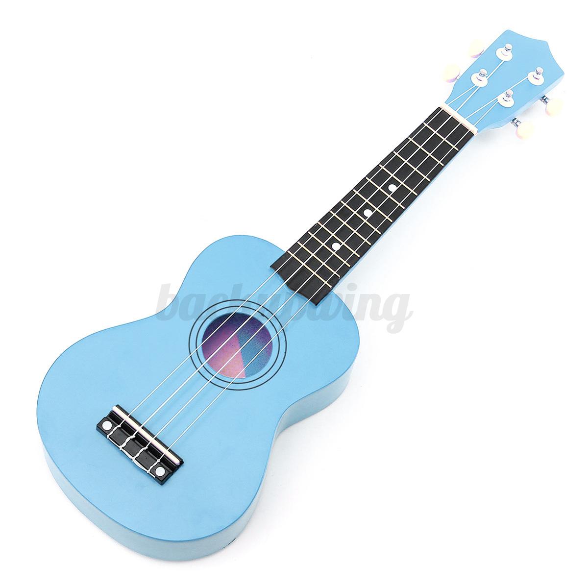 21'' Ukulele Sopran Gitarre Acoustic Guitar 4-String Kinder Geschenk fr Anfänger Blau
