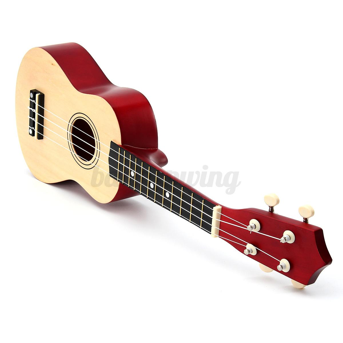 21'' Ukulele Sopran Gitarre Acoustic Guitar 4-String Kinder Geschenk fr Anfänger Holz