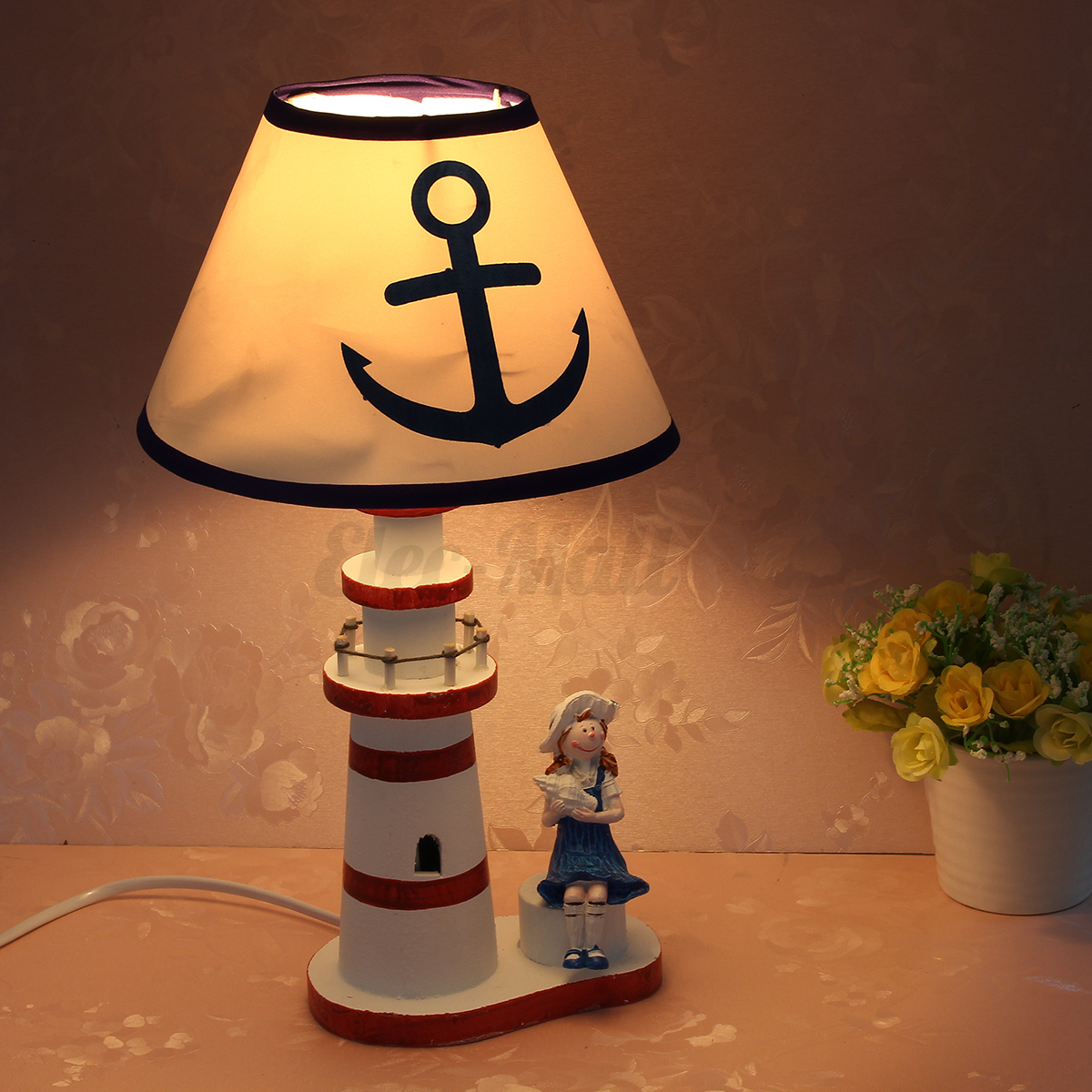 Nautical Lighthouse Desk Lamp Bedside Decor Study Light